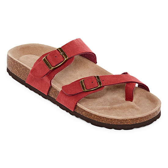 Arizona Fargo Womens Adjustable Strap Footbed Sandals