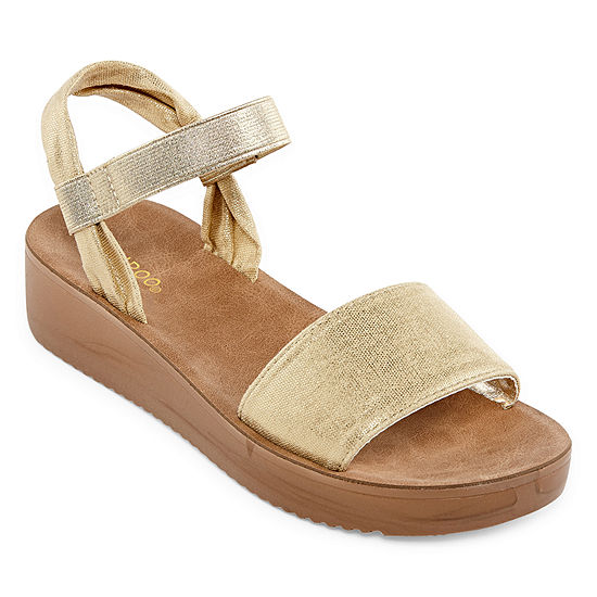 Bamboo Womens Core-06 Ankle Strap Flat Sandals