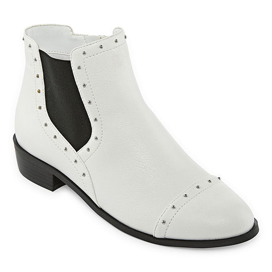 Liz Claiborne Womens Rela Block Heel Zip Booties