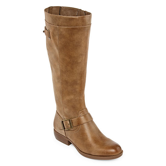 Yuu Womens Jaxie Riding Boots Stacked Heel