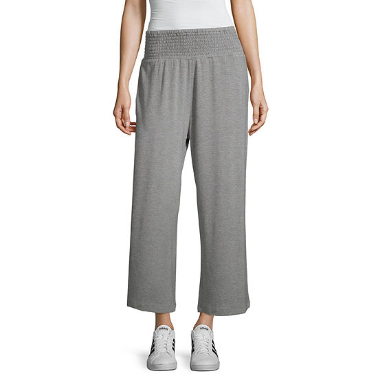 Inspired Hearts Womens Mid Rise Wide Leg Palazzo Pant-Juniors