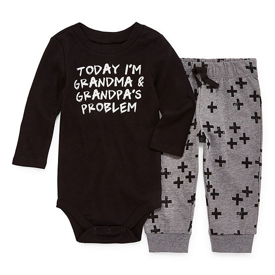 Okie Dokie Boys 2-pc. Bodysuit Set-Baby