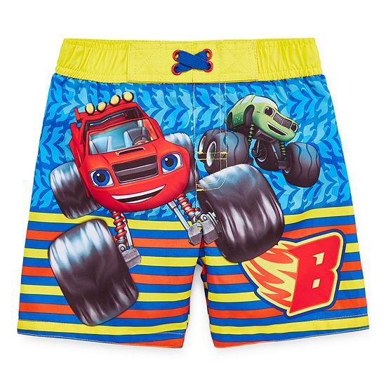 Blaze Boys Blaze and The Monster Machines Swim Trunks-Toddler