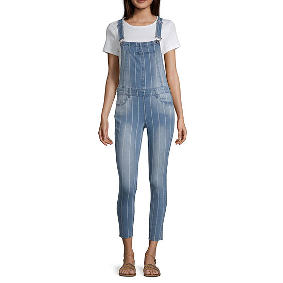 Almost Famous Sleeveless Overalls-Juniors
