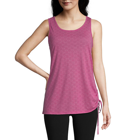 St. John's Bay Active Womens Round Neck Sleeveless Tank Top