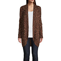 Deals on St. Johns Bay Womens Long Sleeve Open Front Cardigan