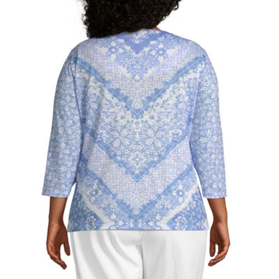 Summer Wind Alfred Dunner Chevron Top - Plus