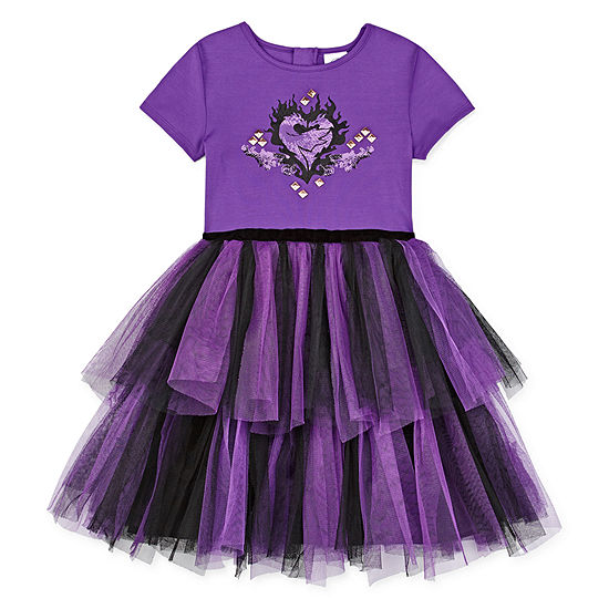 Disney Girls Short Sleeve Cap Sleeve Descendants A-Line Dress - Preschool / Big Kid