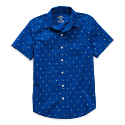 Thereabouts Little & Big Boys Short Sleeve Button-Down Shirt