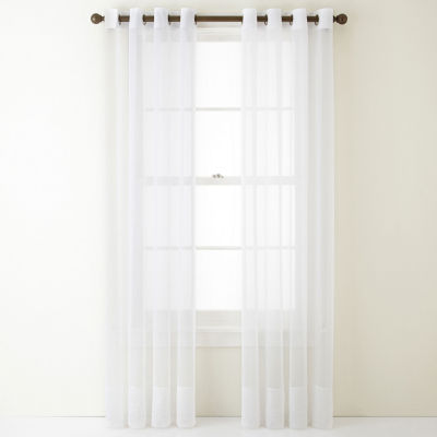 Home Expressions Lisette Sheer Grommet-Top Single Curtain Panel
