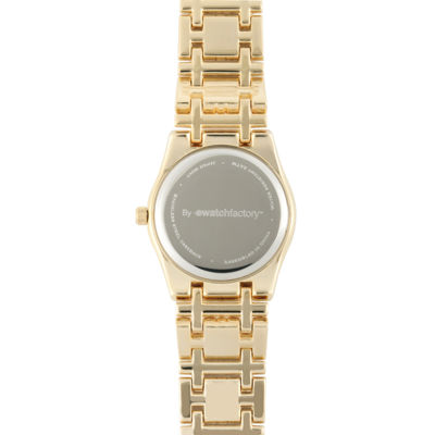 Personalized Dial Womens Diamond-Accent Gold-Tone Bracelet Watch