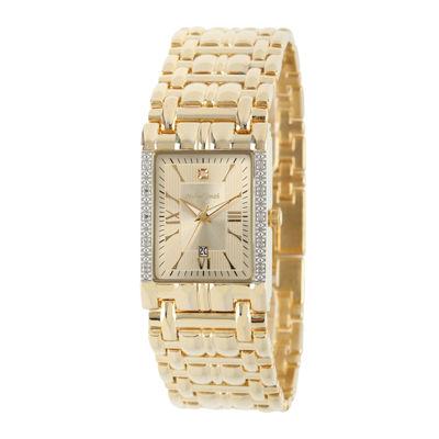 Mens Gold Tone Bracelet Watch