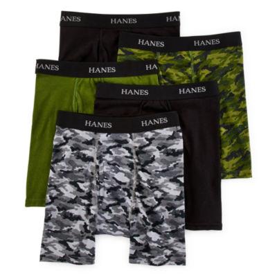 Hanes® Ultimate 4-pk. ComfortFlex® Dyed Boxer Briefs + BONUS pair- Boys