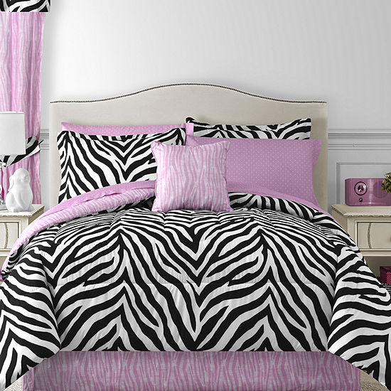Sassy Zebra Complete Bedding Set With Sheets