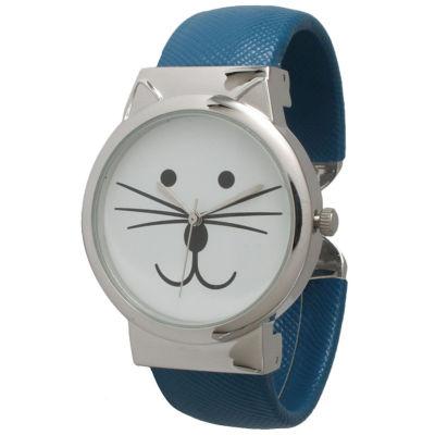Olivia Pratt Womens Tomcat Dial Royal Leather Cuff Watch 13895