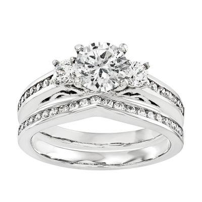 3/4 CT. T.W. Diamond 14K White Gold Bridal Set