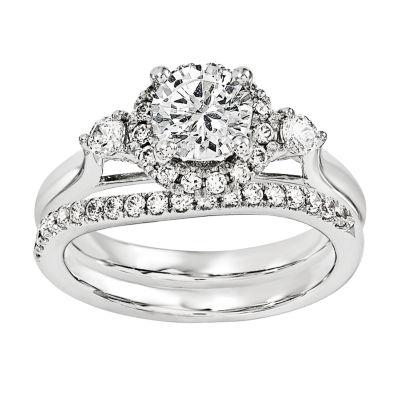 7/8 CT. T.W Diamond 14K White Gold Bridal Set