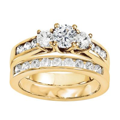1 1/5 CT. T.W. Diamond 14K Yellow Gold Bridal Set