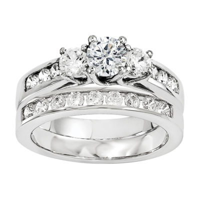 1 1/5 CT. T.W. Diamond 14K White Gold Bridal Set