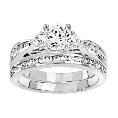 1 1/3 CT. T.W Diamond 14K White Gold Bridal Set