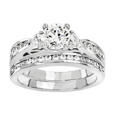 1 1/3 CT. T.W Diamond 14K White Gold Bridal Set