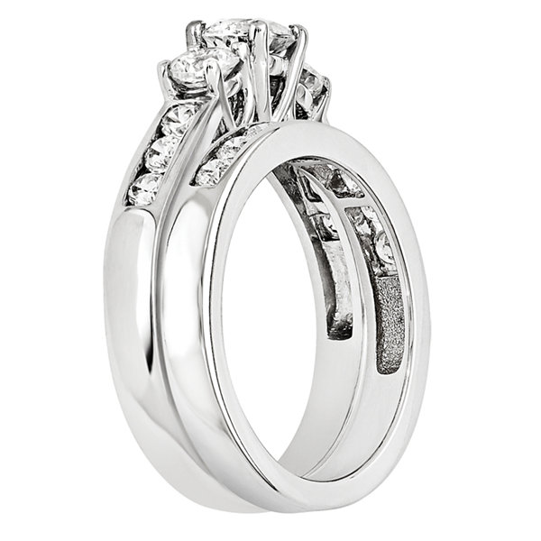 3/4 CT. T.W. Diamond 14K White Gold Bridal Set