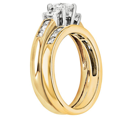 5/8 Ct. T.W Diamond 14K Two Tone Bridal Set