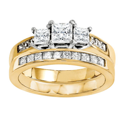 7/8 Ct. T.W Diamond 14K Two Tone Bridal Set