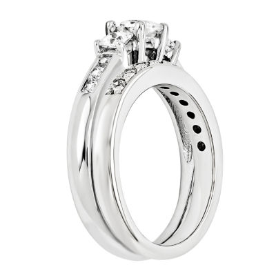 7/8 CT. T.W Diamond 14K White Gold Bridal Set