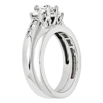 1 CT. T.W Diamond 14K White Gold Bridal Set