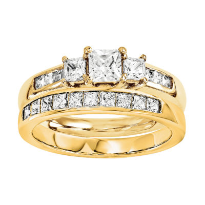 1 CT. T.W Diamond 14K Yellow Gold Bridal Set