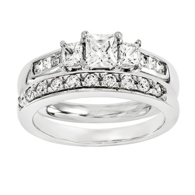 1 3/4 CT. T.W. Diamond 14K White Gold Bridal Set