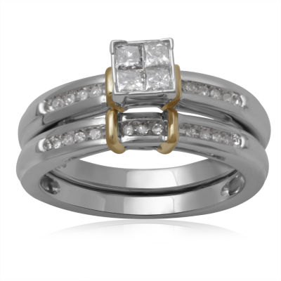1/3 CT. T.W. Diamond 10K Two-Tone Engagement Ring