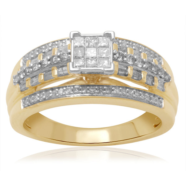 1/2 CT. T.W. Diamond 10K Two-Tone Engagement Ring
