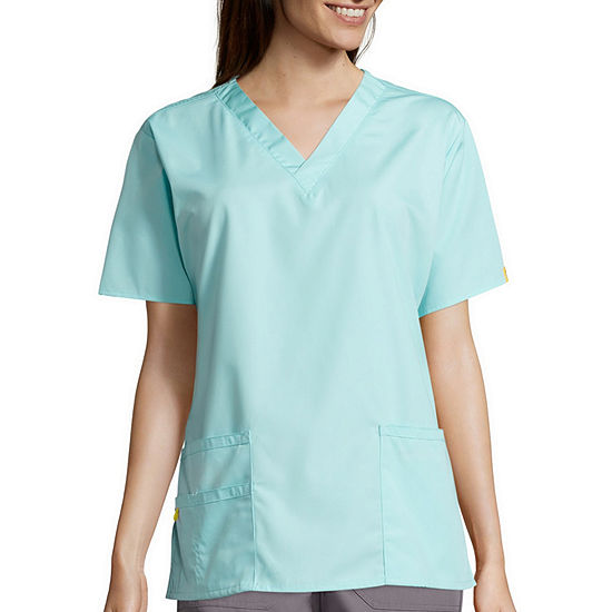 WonderWink® Origins 6016 Womens Bravo Short-Sleeve 5-Pocket V-Neck Top