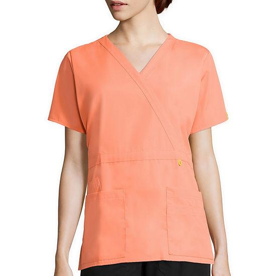 WonderWink® Origins 6056 Womens Short-Sleeve Peek-A-Boo Pocket Top
