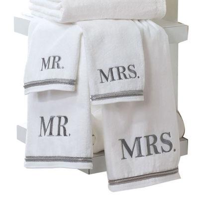 """Avanti """"Mr. & Mrs."""" Bath Towels"""