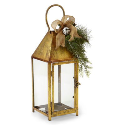 North Pole Trading Co. Nordic Frost Nordic Frost Gold Metal Decorative Lantern