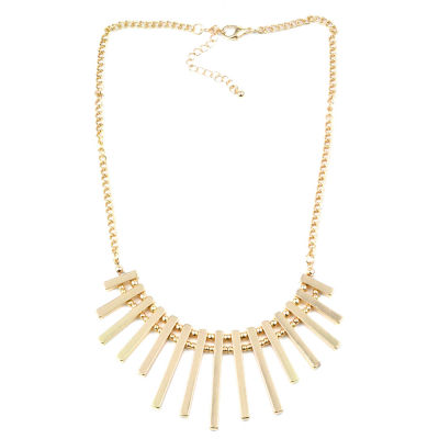 Bold Elements Womens Round Collar Necklace