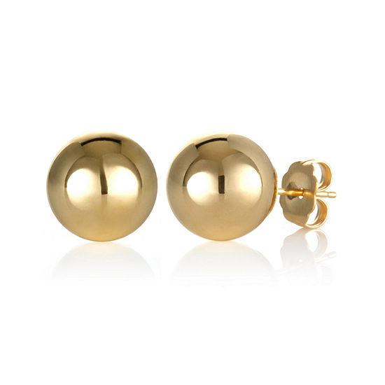 14K Gold 10mm Stud Earrings