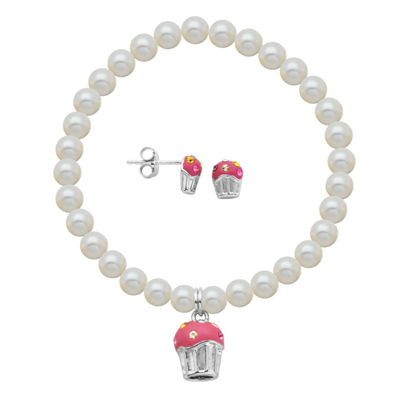 Girls White Cultured Freshwater Pearl Sterling Silver 2-pc. Jewelry Set