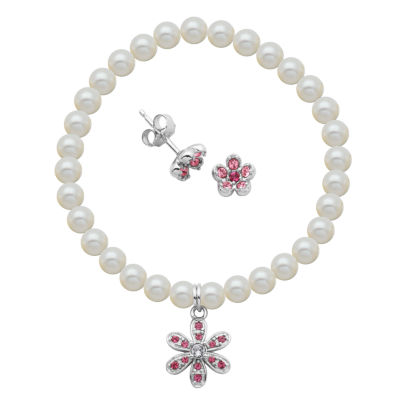 White Cultured Freshwater Pearl Flower 2-pc. Jewelry Set