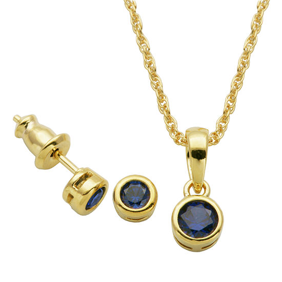 Lab Created Blue Sapphire 2-pc. Jewelry Set