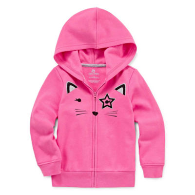 Okie Dokie Fleece Hoodie-Toddler Girls