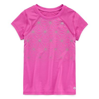 Xersion Short Sleeve Crew Neck T-Shirt-Toddler Girls