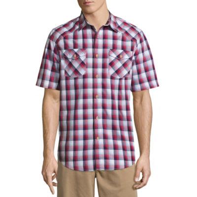 St. John's Bay Americana Comfort Stretch Poplin Shirt