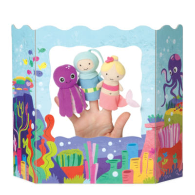 Manhattan Toy Ocean Adventures Finger Puppet Set