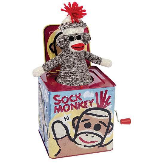 Schylling Sock Monkey Jack In The Box