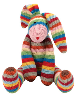 Schylling Stripes The Long Earred Bunny Plush Toy