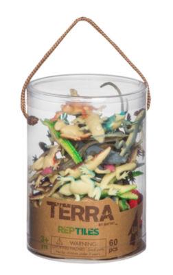 Terra Reptile Figures - 60 Piece Set